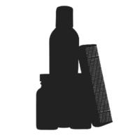 Beard grooming kit icon