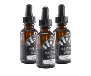 3 bottles of the Industries Groom Tobacco beard oil