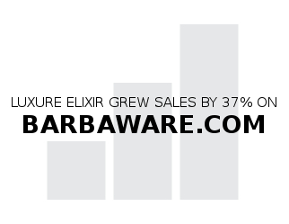 luxure elixir grew sales by 37% on barbaware.com