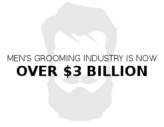 men's grooming industry in now over 3 billion
