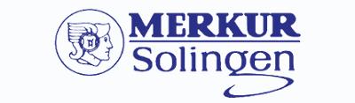 Logo of the Merkur safety razor brand