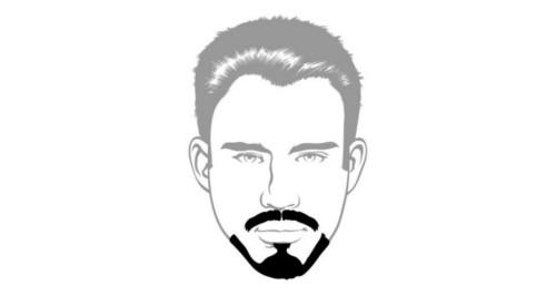Here is the Balbo beard style