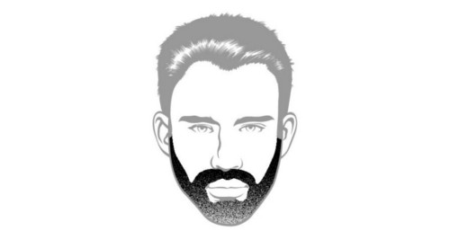 Here is the long stubble beard style