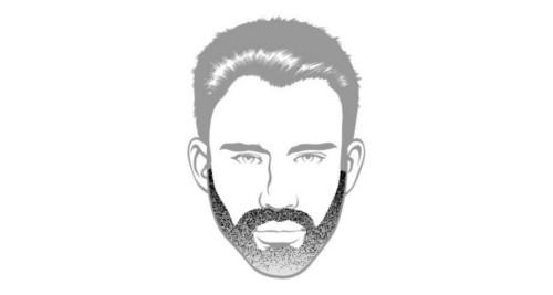 Here is the Medium Stubble beard style