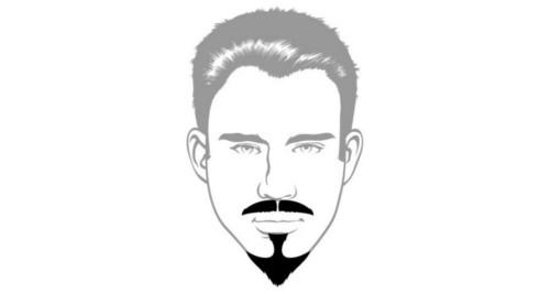 Here is the Van Dyke beard style