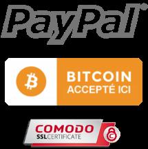 Paiement paypal + Bitcoin + comodo SSL entièrement sécurisé sécurisé, payer par carte VISA, MasterCard, Discover, American Express, compte bancaire, etc.: meilleure option barbe toilettage-produits de paiement barbaware