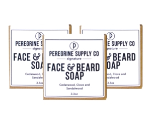 3 Peregrine Supply face & beard soap bars