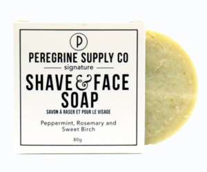 Peregrine Supply Co Shave and face soap.