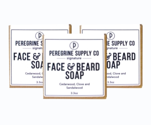 3 Peregrine Supply face & beard soap