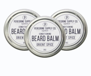 3 tins of Peregrine Supply Orient Spice Beard balm