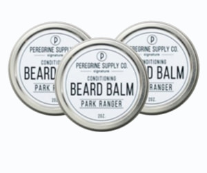 3 tins of Peregrine Supply Park Ranger Beard Balm
