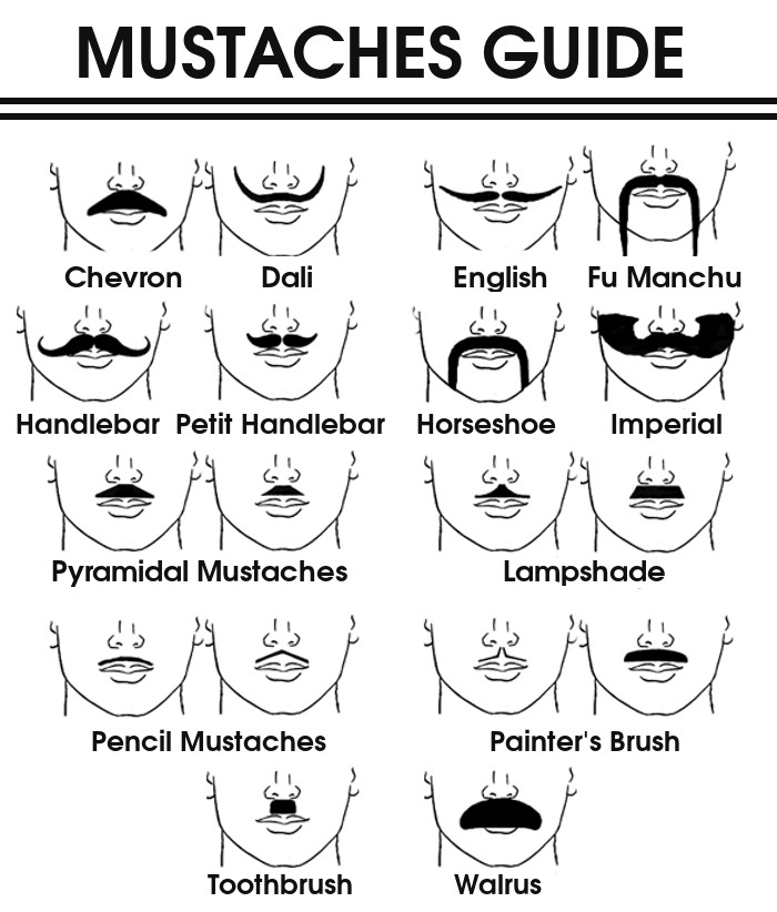 The 13 Most Popular Mustache Styles