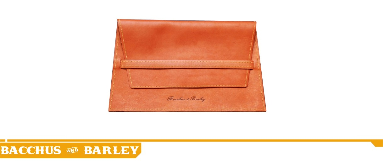 WHISKY BROWN IPAD SLEEVE - BACCHUS & BARLEY LEATHER APPLE TABLET SLEEVE