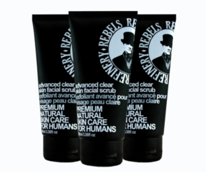 Here are 3 Rebels Refinery Advanced Clear Skin Facial Scrubs
