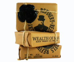 3 Rebels Refinery Black Wealth of Man Organic Oil Body Soap Bars