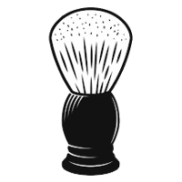 Here is a shaving brush