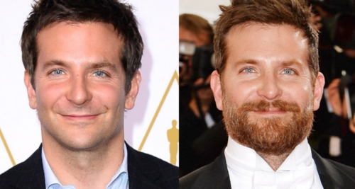 Bradley Cooper with and without beard